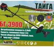 Бензокоса Тайга БГ-3900 (3 ножа + 1 леска)