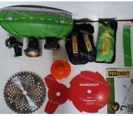 Бензокоса Procraft T5600 (4-х тактная) + 4 насадки + ранец
