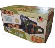 Бензопила Procraft K450L (Металл + подкачка + 1 запасной фильтр)