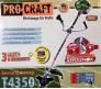 """Бензокоса Procraft T4350 (3 ножа + катушка """"подшипник"""")"""